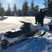 Snowmobiling in 3-foot snow and -7 degrees!